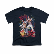 Elvis Presley Shirt Kids Eagle Navy T-Shirt