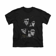 Elvis Presley Shirt Kids Faces Black T-Shirt