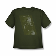 Elvis Presley Shirt Kids Film Strip Olive T-Shirt