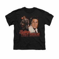 Elvis Presley Shirt Kids Follow That Dream Black T-Shirt