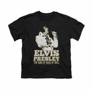 Elvis Presley Shirt Kids Golden Glow Black T-Shirt