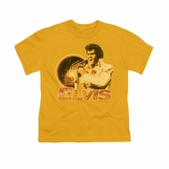 Elvis Presley Shirt Kids Hawaii Style Gold T-Shirt