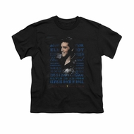 Elvis Presley Shirt Kids Icon Black T-Shirt