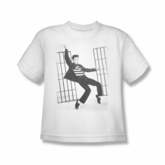 Elvis Presley Shirt Kids Jailhouse Rock White T-Shirt