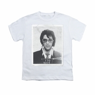 Elvis Presley Shirt Kids Mugshot White T-Shirt