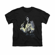 Elvis Presley Shirt Kids Painted King Black T-Shirt