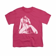Elvis Presley Shirt Kids Please Love Me Hot Pink T-Shirt