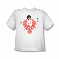 Elvis Presley Shirt Kids Red Pheonix White T-Shirt