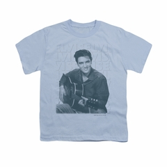Elvis Presley Shirt Kids Repeat Light Blue T-Shirt