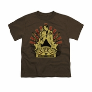 Elvis Presley Shirt Kids Rising Brown T-Shirt