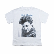 Elvis Presley Shirt Kids Script Sweater White T-Shirt