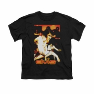 Elvis Presley Shirt Kids Showman Black T-Shirt