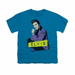 Elvis Presley Shirt Kids Sitting Turquoise T-Shirt