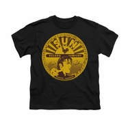 Elvis Presley Shirt Kids Sun Records Full Logo Black T-Shirt