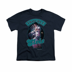 Elvis Presley Shirt Kids Total Trouble Soundtrack Navy T-Shirt