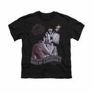 Elvis Presley Shirt Kids Violet Vegas Black T-Shirt