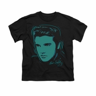 Elvis Presley Shirt Kids Young Dots Black T-Shirt