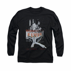 Elvis Presley Shirt Las Vegas 1970 Long Sleeve Black Tee T-Shirt