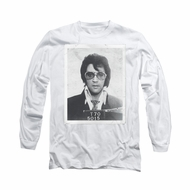 Elvis Presley Shirt Mugshot Long Sleeve White Tee T-Shirt