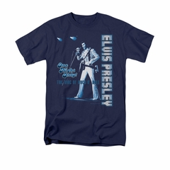 Elvis Presley Shirt One Night Only Navy T-Shirt