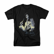 Elvis Presley Shirt Painted King Black T-Shirt