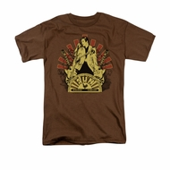 Elvis Presley Shirt Rising Brown T-Shirt