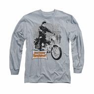 Elvis Presley Shirt Roustabout Long Sleeve Athletic Heather Tee T-Shirt