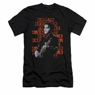 Elvis Presley Shirt Slim Fit 1968 Black T-Shirt