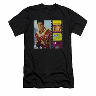 Elvis Presley Shirt Slim Fit Blue Hawaii Album Black T-Shirt