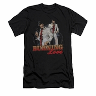 Elvis Presley Shirt Slim Fit Burning Love Black T-Shirt