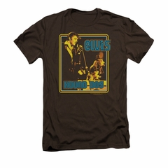 Elvis Presley Shirt Slim Fit Cryin All The Time Brown T-Shirt