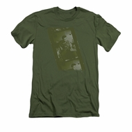 Elvis Presley Shirt Slim Fit Film Strip Olive T-Shirt