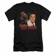 Elvis Presley Shirt Slim Fit Follow That Dream Black T-Shirt