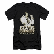 Elvis Presley Shirt Slim Fit Golden Glow Black T-Shirt