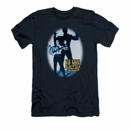 Elvis Presley Shirt Slim Fit Hands Up Navy T-Shirt