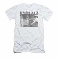 Elvis Presley Shirt Slim Fit Heartbreaker White T-Shirt