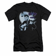 Elvis Presley Shirt Slim Fit Hillbilly Cat Black T-Shirt