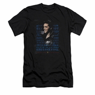 Elvis Presley Shirt Slim Fit Icon Black T-Shirt