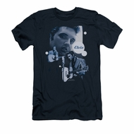 Elvis Presley Shirt Slim Fit Play That Guitar Navy T-Shirt