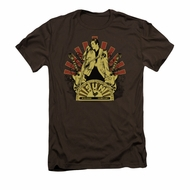 Elvis Presley Shirt Slim Fit Rising Brown T-Shirt