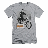 Elvis Presley Shirt Slim Fit Roustabout Athletic Heather T-Shirt