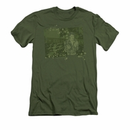 Elvis Presley Shirt Slim Fit That 70's Military Green T-Shirt