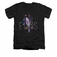 Elvis Presley Shirt Slim Fit V-Neck Dream State Black T-Shirt