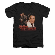 Elvis Presley Shirt Slim Fit V-Neck Follow That Dream Black T-Shirt