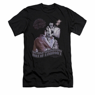 Elvis Presley Shirt Slim Fit Violet Vegas Black T-Shirt