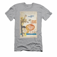 Elvis Presley Shirt Slim Fit World Fair Poster Silver T-Shirt