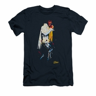 Elvis Presley Shirt Slim Fit Yellow Scarf Navy T-Shirt