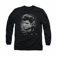 Elvis Presley Shirt Sweater Long Sleeve Black Tee T-Shirt