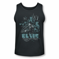 Elvis Presley Shirt Tank Top 68 Leather Charcoal Tanktop