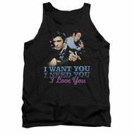 Elvis Presley Shirt Tank Top I Want You Black Tanktop